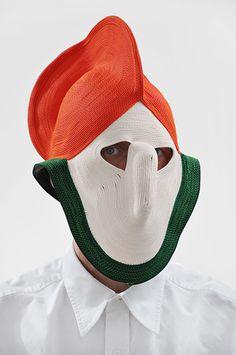 Masks by Studio Bertjan Pot  Pushing the boundaries in an attempt to make carpets.