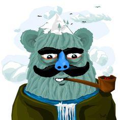 Missing Link on the Behance Network #vector #yati #illustration #handmade #bigfoot #blue #character