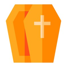 See more icon inspiration related to death, cultures, wooden, coffin, box and cross on Flaticon.