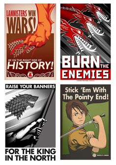 thrones posters #propaganda #game #of #thrones