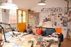 FFFFOUND! | Design*Sponge » Blog Archive » sneak peek: rob ryan's studio #interior #room #white #poster