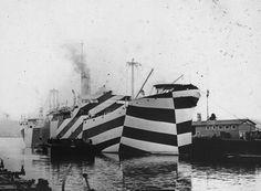 Patternity_Dazzle Ship Dock #ships #stripes #pattern #dazzle