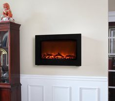 Wall-Mounted Indoor Electric Fireplace #tech #flow #gadget #gift #ideas #cool