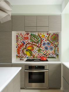 Modern kitchen with art decor #interior #painting #art #kids #apartment #room