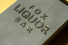 Fox Liquor Bar - Joshua Gajownik — Design + Direction #type #card