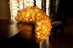 Designer Tischlampe (seide)BLONDIE ZEErrAqua Creationsr #lamp #light #organic
