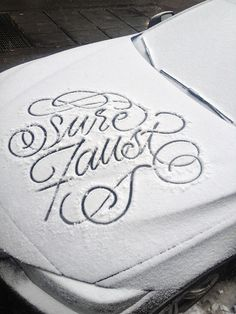 Snow Script on Behance #snow #letteting #script