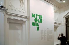 Creative Review - Mythologies exhibition graphics by Spin #exhibition #design #graphic #environment