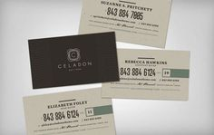 design work life » cataloging inspiration daily #ivory #business #modern #collateral #grey #dark #cards #green