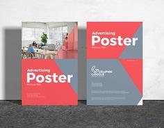 Free Advertising Poster Mockup PSD