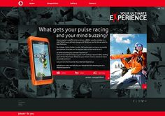 Vodafone - Your Ultimate Experience on the Behance Network #vodafone #design #website #webdesign #layout