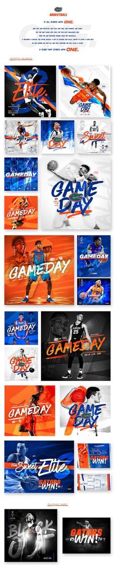 2016-17 Florida Gators Men's Basketball Social Graphics