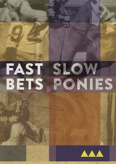 'Don't make fasty bets' by studio Minugs #color #vintage #poster #ponies