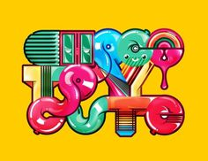 Choco Toy #type #design #graphic