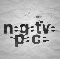 Applying Negative Space to Storytelling (fiction) #negative space #typography #lettering