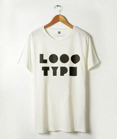 Logotype on t-shirt #logotype #white #geometry #print #black #logo #shirt #type #typography