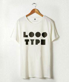 Logotype on t-shirt #logotype #white #geometry #print #black #logo #type #typography