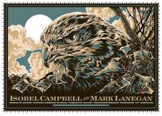 GigPosters.com - Isobel Campbell & Mark Lanegan #eagle #vector #taylor #ken