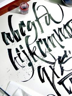 exercise   Flickr – Compartilhamento de fotos! #ink #sk #flickr #marina #marjina #paper #caligraphy