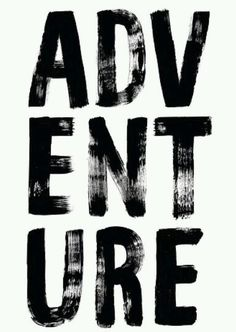 Adventure in bold brush font