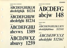 Caslon font specimen #type #specimen #typography