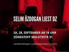 Selim Özdogan liest DZ #grafischeheilanstaltde #zdogan #wmk #clothingde #zuendstoff #selim #graphica #la #wmkto #viva #dz