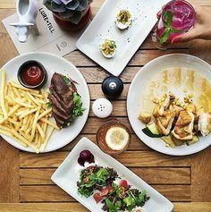 food, restaurant, fries, salad