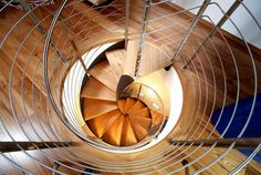 Steel Spiral Staircase by Rizzi rizziscale #stairs #staircase #spiral #wooden stairs