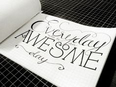 Awesome #illustration #type #font #handdrawn