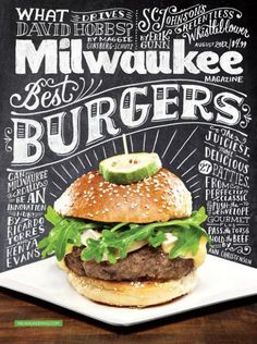 Milwaukee Magazine Cover #typography #cover #food #typhography