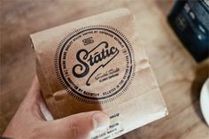 Static Coffee #packaging #coffee #stamp #salih kucukaga