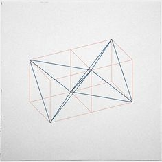 #346 Two tetrahedrons in adjacent cubes – Hardcore geometry, yeah! – A new minimal geometric composition each day