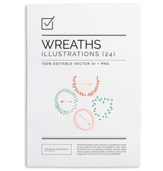 Wreaths & Arrows Vector Clip Art $10.00 Lovely wreaths, frames and arrows in customizable . AI vector and 300 DPI high resolution .PNG forma