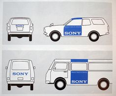 SONY Car #old #design #retro #auto #brand #vintage #sony #car