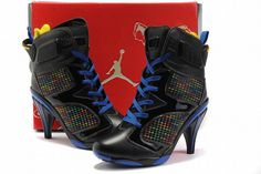 Nike Air Jordan VI 6 Heels Black/Blue #shoes