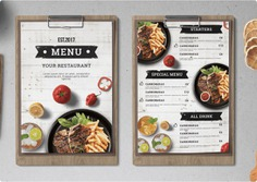 Takeaway Menus - Unique designs, high-quality papers and on-time delivery