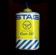 Stag Gun Oil. #design #vintage
