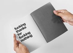 fucking thanks for fucking nothing Introspective by Cristian Valverde http://bit.ly/Lsyrf5 #international #thanks #swiss #fanzine #magazine #black #tipografa #type #helvetica #bauhaus #dark #style #typography