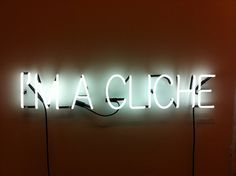 i'm a cliche - jahresgabe von cordula ditz #lettering #installation #sign #typography #contemporary #art #neon