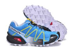 Trail Running Shoe-Salomon Woman Shoes Speedcross 3 Cs Athletic Running Sports Outdoor Moon blue Black White #shoes