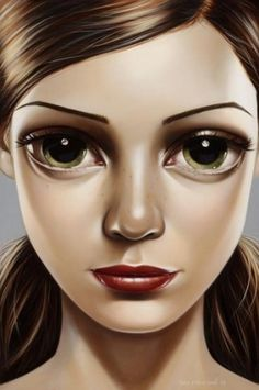 new-day.jpg 399×600 pixels #eyes #illustration #art #girl
