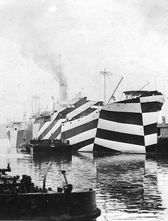 Dazzle Camouflage #pattern #cammo #camouflage #dazzle #ship