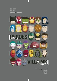 http://masive.tumblr.com/ #heroes #design #madebyme #illustration #villains