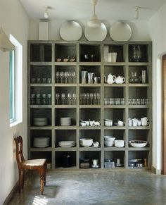 Interior Design Ideas: 12 Concrete Interiors Photo #expedit #concrete #cupboard