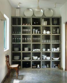 Interior Design Ideas: 12 Concrete Interiors Photo #expedit #concrete #cupboard