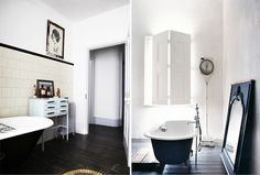 black bath tubs #interior #design #decor #deco #decoration