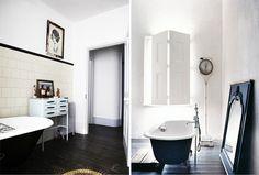black bath tubs #interior #design #decor #deco #decoration