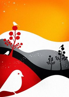 Birdlife Italy par Cristian Grossi | gehirn #pop #illustrator #bird #advertising #illustration #grossi #cristian