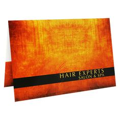 Hair Experts Salon & Spa Gift Card Holder #salon #business #card #hair #spa #holder #folder