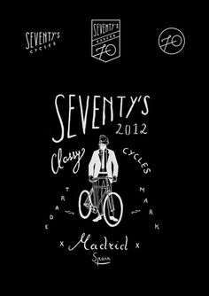 Seventy's cycles #logo #bike #logotype #identity